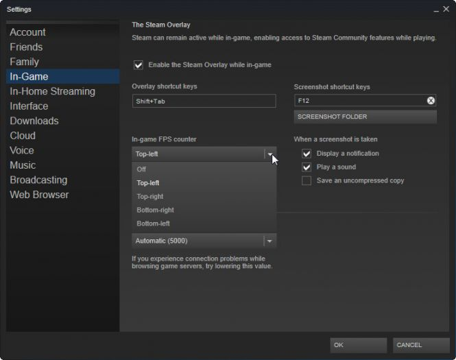 Steam FPS Menu