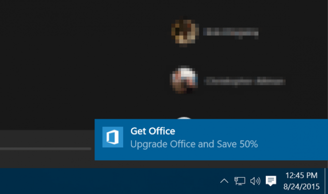 Get Office Notification