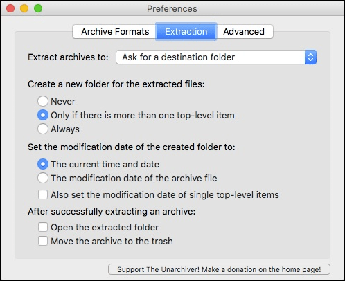 How to open RAR and 7Zip arhives on Mac OS