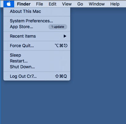 Force Quit window