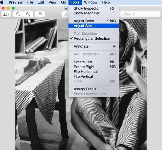 how to change image file size on mac