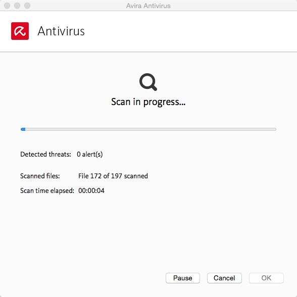 Avira Scan Window