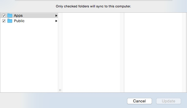 Selecting Folders For Selective Sync