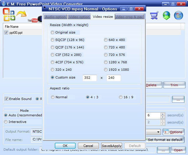 convert video to vcd free download - download3000.com