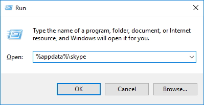 Accessing Skype Profile Folder