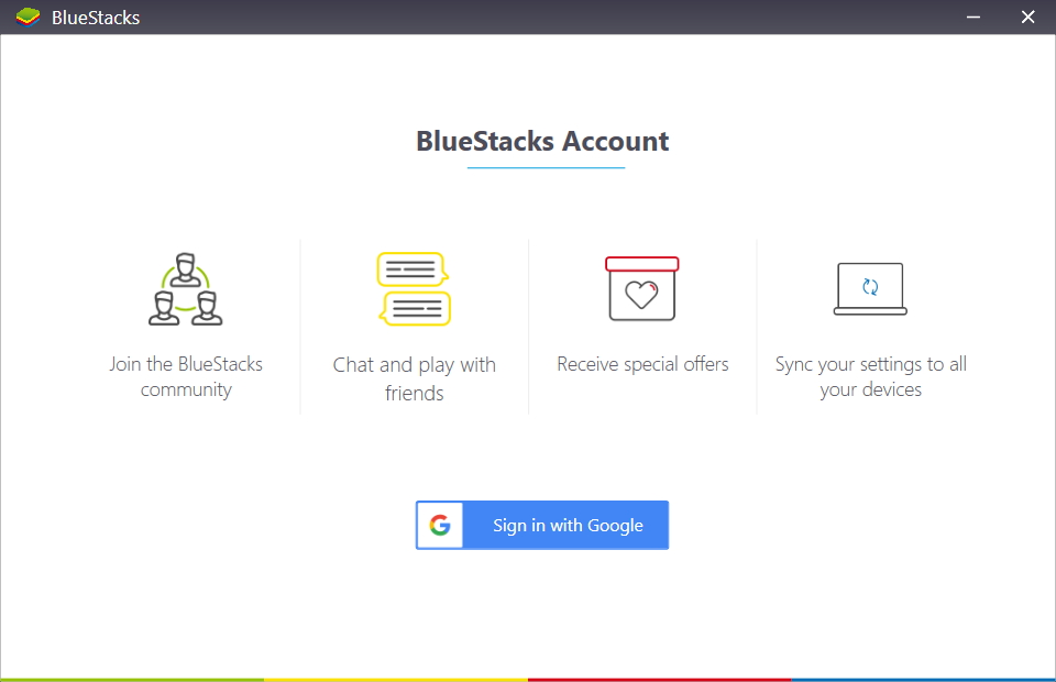 Log In To Google Account In BlueStacks