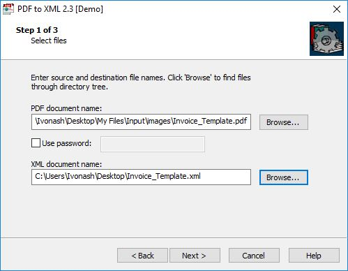 Importing File In PDF-to-XML