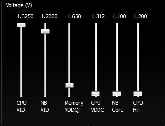 Configuring Voltage Settings In AMD OverDrive