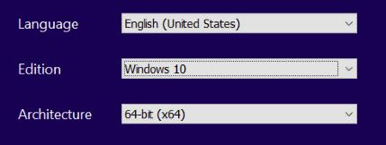 Windows Operating System Options