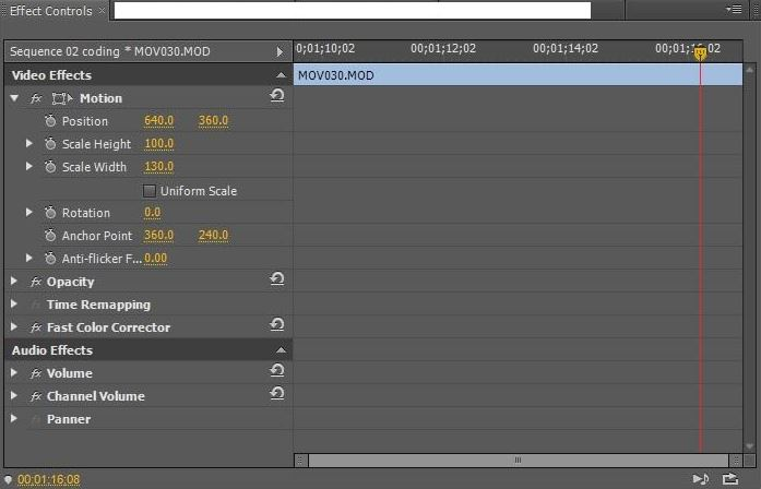 Effect Controls In Premiere Pro