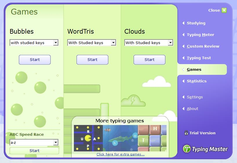 typing bubbles games