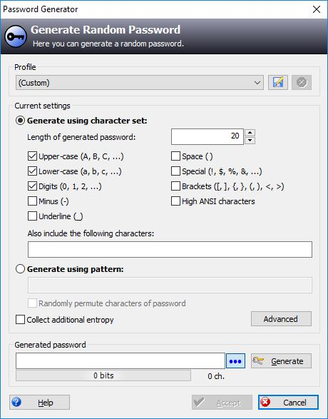 KeePass Password Generator