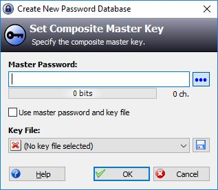 Entering Master Password In KeePass