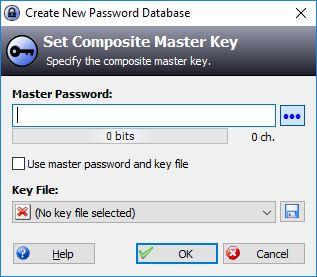 Entering Master Password In KeePass