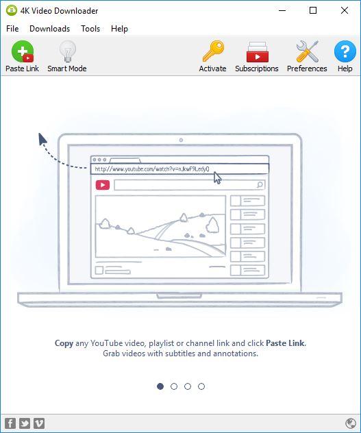 4k Video Downloader Main Window