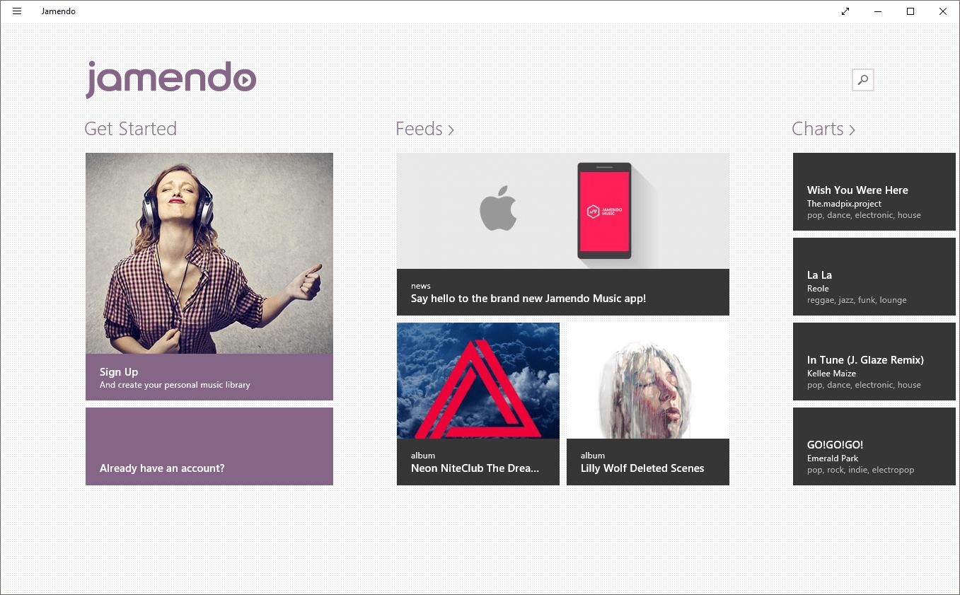 Jamendo App Main Window