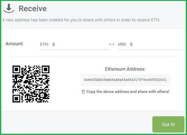 Ethereum Address Sample