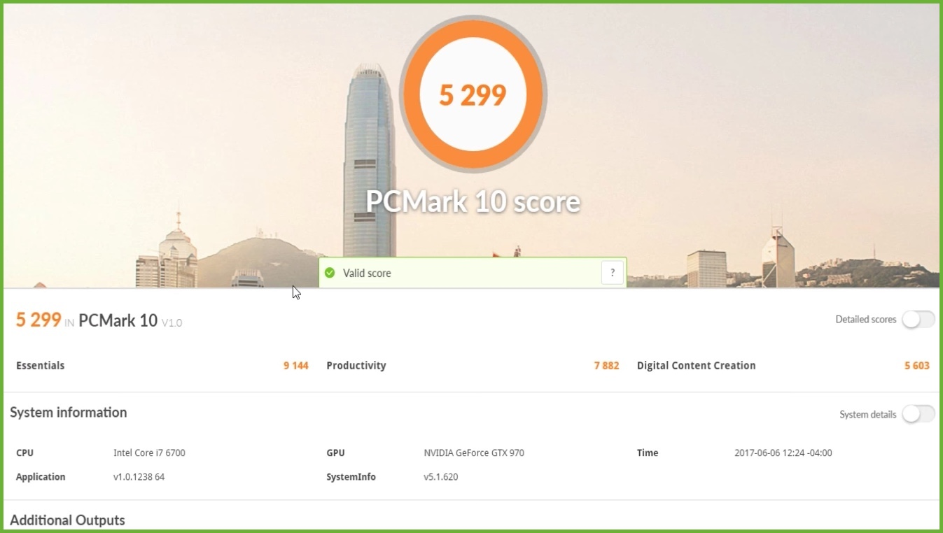 Checking PCMark 10 Score