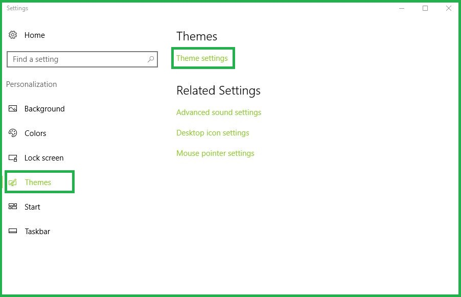 Accessing Theme Settings Panel