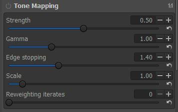 RawTherapee's Tone Mapping Panel