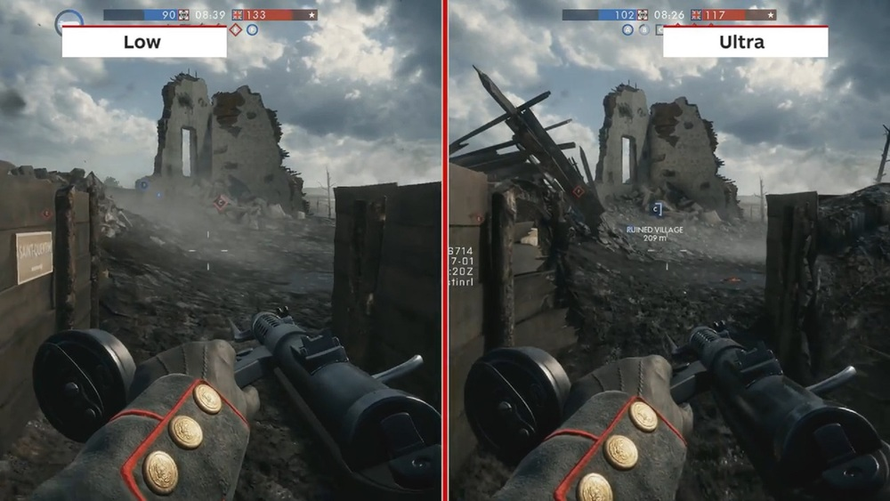 Battlefield 1 Running On Low And High Settings