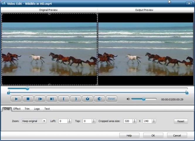iWisoft Free Video Converter - Edit video