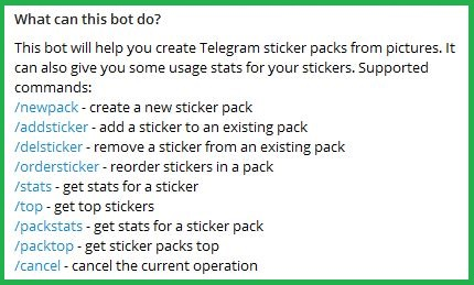 Accessing Telegram's Create Pack Option