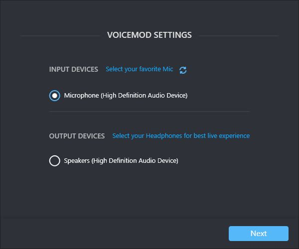 Configuring Voicemod Settings