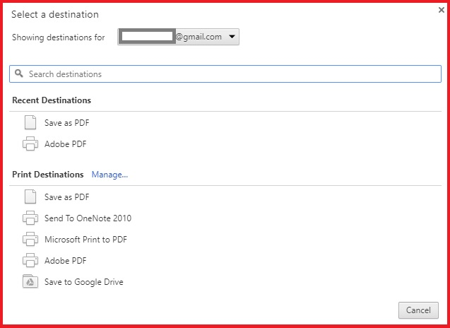 Converting HTML To PDF In Google Chrome