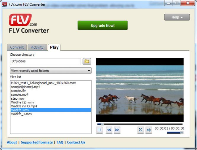Built-in video player
