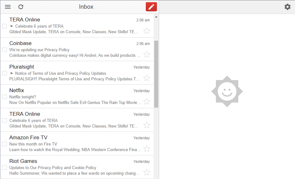 Gmail Offline Interface