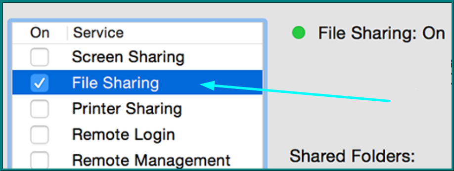 Enabling File Sharing