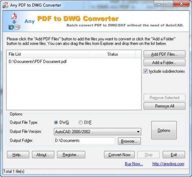 How to convert PDF to DWG With PDF to DWG Converter