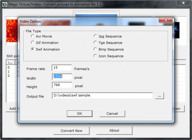 How to batch convert JPG to SWF with Magic Pic2Ani