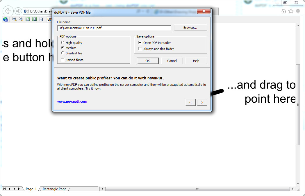 how to convert vsd to pdf with dopdf - Pdf To Visio Converter Online Free