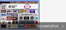 Screenshot collage for Allworld Internet Radio