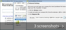 Screenshot collage for QuickBooks File Doctor