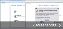 Screenshot collage for CCleaner Network Professional Management Console