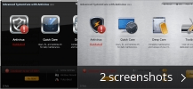 Screenshot collage for Advanced SystemCare with Antivirus 2013