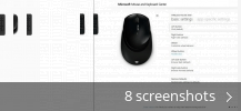 Screenshot collage for Microsoft Mouse and Keyboard Center
