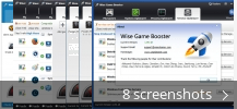 Screenshot collage for Wise Game Booster