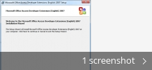 Screenshot collage for Microsoft Office Access Developer Extensions