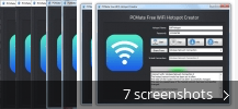 Screenshot collage for PCMate Free WiFi Hotspot Creator