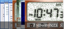 Screenshot collage for Multilingual Speaking Clock