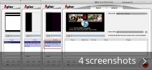 Screenshot collage for Aplus FLV to DVD Converter