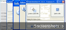 Screenshot collage for PatchOnClick
