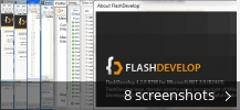 Screenshot collage for FlashDevelop