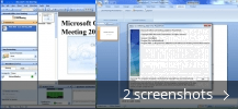 Screenshot collage for Microsoft Office Live Meeting Add-in Pack