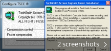Screenshot collage for TechSmith Screen Capture Codec
