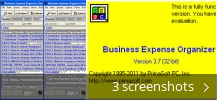 Screenshot collage for Business Expense Organizer Deluxe